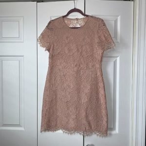 H&M Pink Floral Lace Dress Size 10 NWT